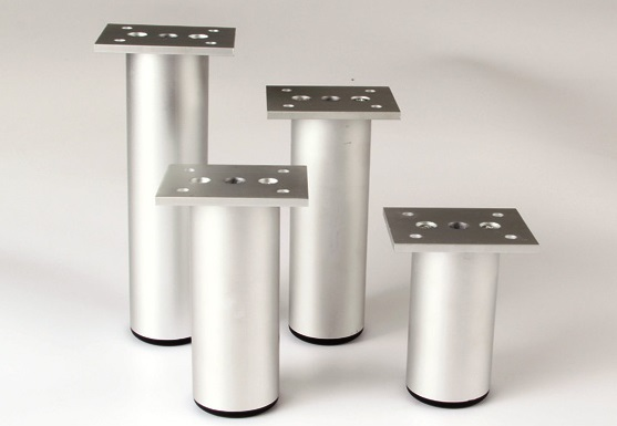 4PCS/LOT Dia38MM Aluminum Furniture Adjustable Cabinet Sofa Chair Leg Feet(China (Mainland))