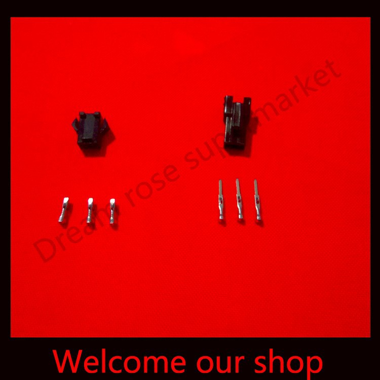 200 sets Black 3Pin/way terminals cable connector pin 2.54mm SM-3P Kit (male&amp;female Housing+Terminal) for car / boat / ship ect.<br><br>Aliexpress