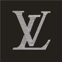 (2pc/lot) L logo designs iron on transfer hot fix rhinestone heat transfer design hot fix rhinestone pattern DIY Fancy strass(China (Mainland))