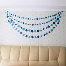 Buy 1PCS Home Party Room Decoration Bunting Hanging Paper Star Garlands 4M Birthday String Chain Banner Ornaments Curtain H01 for $1.06 in AliExpress store