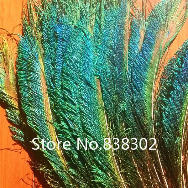 """50pcs Peacock Sword Feather Natural Green Iridescent 10-12"""" diy decoration(China (Mainland))"""