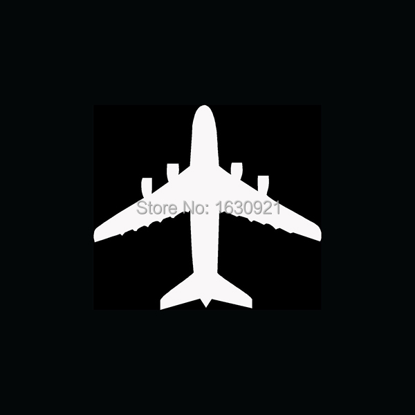 Wholesale Wholesale AIRPLANE TOP VIEW Sticker Jet Pilot Fly Land Fighter Aircraft Vinyl for Car Window Decal Fun(China (Mainland))