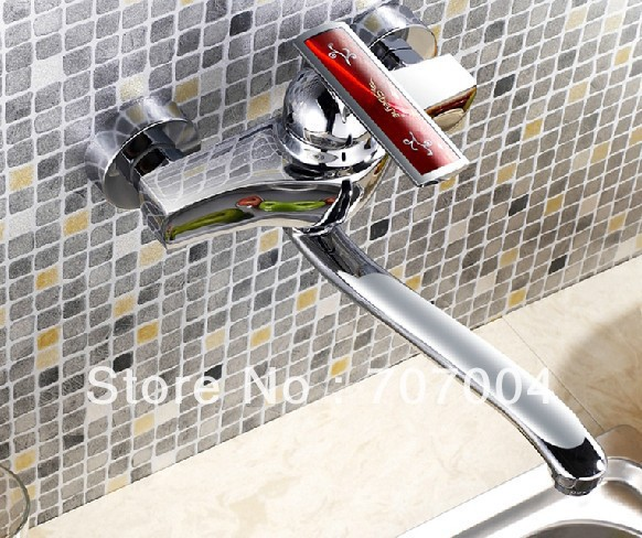bathroom wall mounted kitchen sink faucet swivel spout chrome brass<br><br>Aliexpress