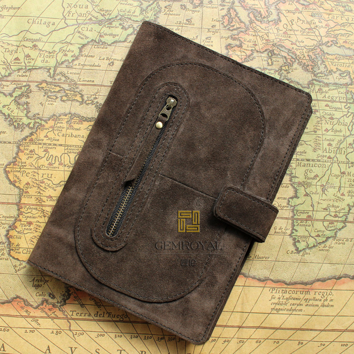 High Quality Genuine Leather NoteBook Sleeve Pen Storage Bag Book Travel Case Card Pouch Stationery Office Supplies Portable(China (Mainland))