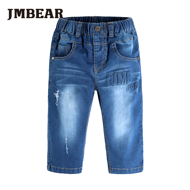 JMBEAR 6-14Y boys jeans kids pants girls ripped jean boy children clothing Dennis pant(China (Mainland))