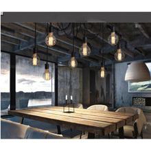 Lixada rétro Antique classique 8 bras avec 1.7 m fil Ajustable bricolage plafond araignée lampe E27 lustre pendentif salle de lumière(China (Mainland))