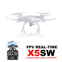 EMS Fast Shipping !! WiFi Support IOS Android SYMA X5SW FPV RC Drone With HD Camera 2.4G 6 Axis RC Quadcopter Real Time Video