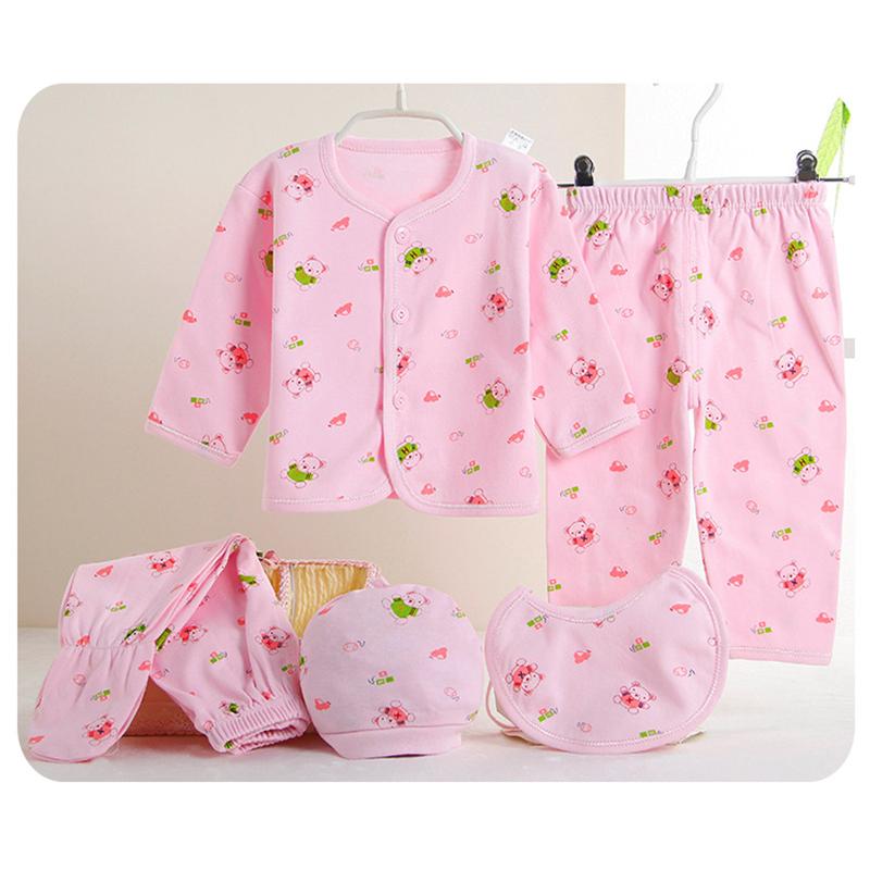 (5pcs/set) Newborn 0-3M High Quality 100% Cotton Cartoon Underwear Baby Clothing Set Brand Baby Boy/Girl Clothes T3(China (Mainland))