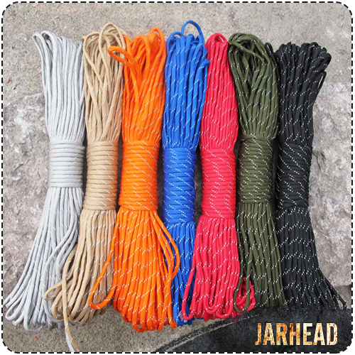 Outdoor Equipment Reflecting The Light Paratrooper Tent Rope Tied Rescue Traction Bundled Clothesline 4 Mm Edc Climbing Rope(China (Mainland))