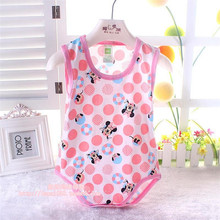 2015 Brand Baby Bodysuits Jumpsuits Summer Newborn Cotton Body Baby Sleeveless Underwear Next Infant Boys Girls