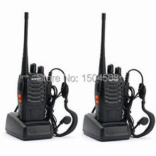 2 pcs 2015 new free shipping Cheap Walkie Talkie BF-888s 5W 16CH UHF 400-470MHz BF-888S Interphone BaoFeng 888S Two-Way Radio