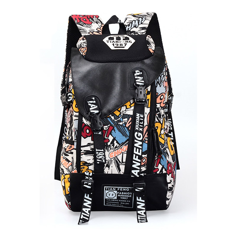 New Canvas Printing Travel Backpack Fashion Sports Back Pack Gear Mochila Men For Outdoor Camping Cycling Trekking Travelling(China (Mainland))