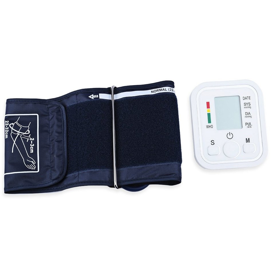 Automatic Arm Blood Pressure Pulse Monitor Health Care Digital Upper Portable Sphygmomanometer with Voice cheap