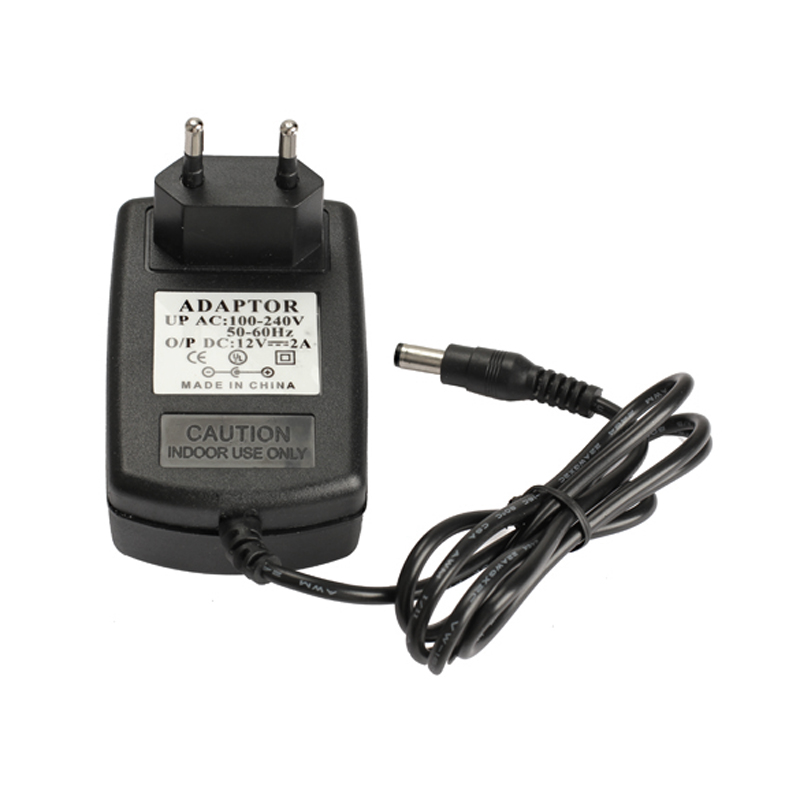 EU Plug AC 100-240V to DC 12V 2A Switching Power Supply Converter Adapter Black ALI88(China (Mainland))