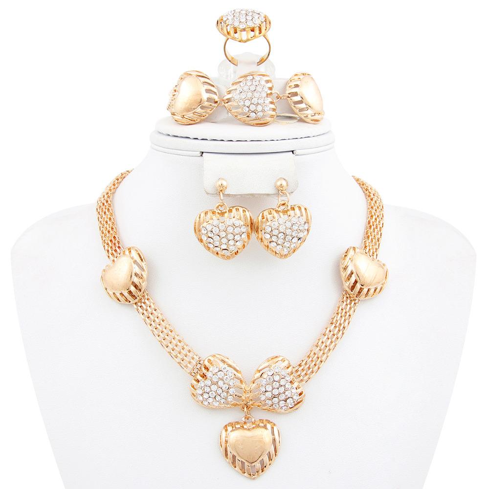 set fashion crysatl wedding bridal costume jewelry sets in jewelry