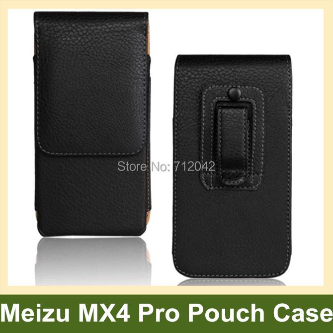 Black Belt Clip PU Leather Vertical Flip Cover Pouch Case for MEIZU MX4 Pro 10pcs/lot Free Shipping