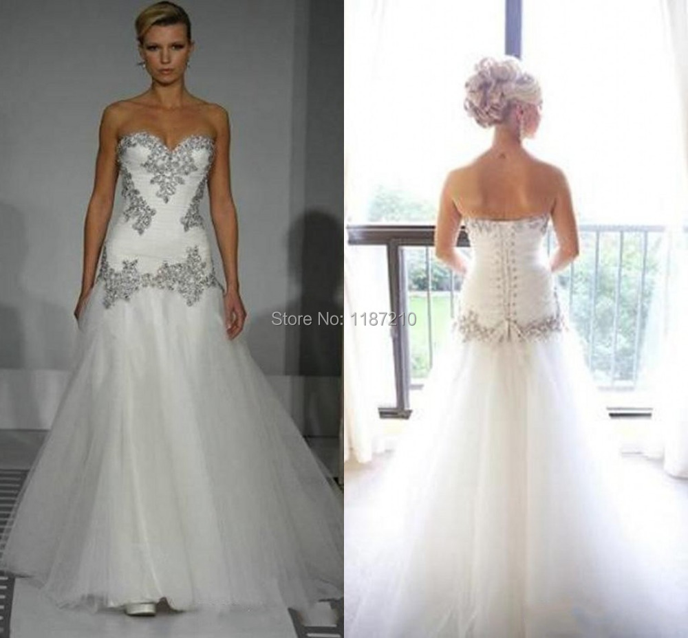 Real Image 2015 Wedding Dresses Pnina Tornai Sweetheart