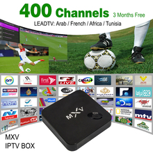 3 Months Leadtv Arabic French IPTV Included Android TV Box MXV Support Canal+ french iptv set top box free Test free shipping