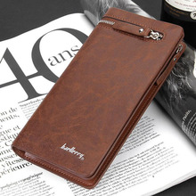 Baellerry Business Men's Wallets Solid PU Leather Long Wallet Portable Cash Purses Casual Standard Wallets Male Clutch Bag
