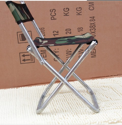 House Scenery Outdoor Furniture Folding Beach Galvanized Chair Camping Fishing Stool(China (Mainland))