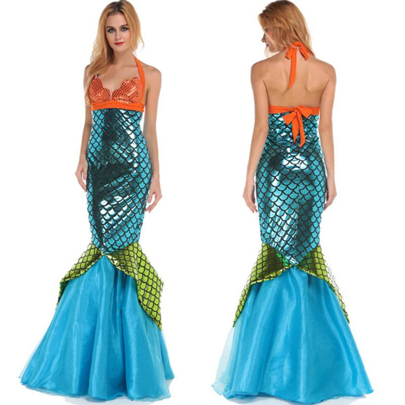 New Design Halloween women cosplay dress sexy adult mermaid costume(China (Mainland))