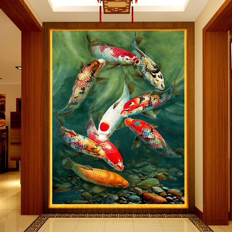 Customized 3d mural wallpaper decorative wall painting of for 3d mural painting tutorial