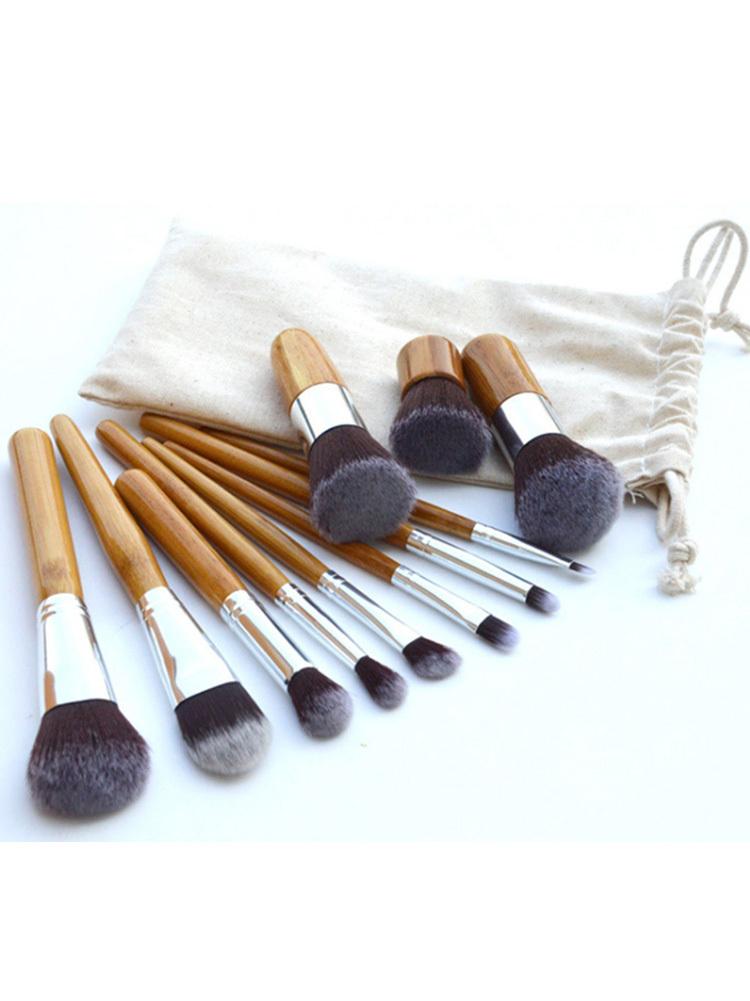 11 Pcs autêntico Professional cosméticos pincéis de maquiagem Make up ferramentas Brushes