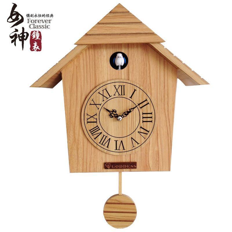 muto orologio orologio da parete in legno in Soggiorno decorazione ...