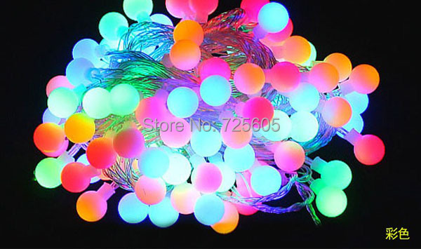 Luminaria 5m RGB LED Ball string lamps Christmas Lights wedding garden new year pendant holiday lighting garland - Shenzhen TOPLED Electronics Co ., Ltd . store