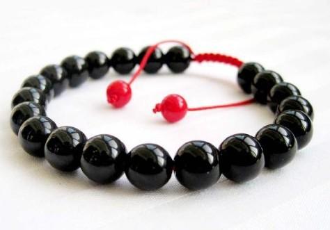 New Arrival Fashion Stone Needle Health Jewelry Black Beaded Shamballa Men's Bracelet 1pcs Free Shipping()