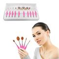 10pcs set Cosmetic Oval Toothbrush Shape Makeup Blush Set Powder Foundation Beauty Eyeshadow Eyeliner Makeup
