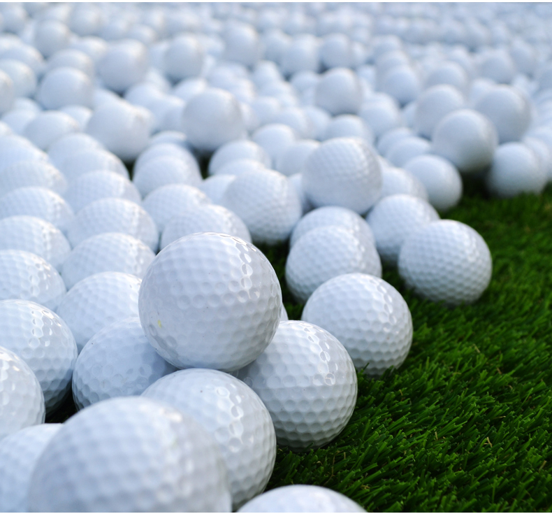 New Golf Balls Practice Field Dedicated Golf Practice Ball Blank Double Ball 4 pieces(China (Mainland))