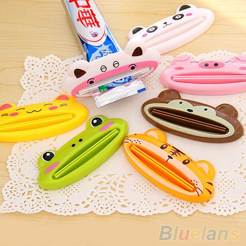 Bathroom Home Tube Rolling Holder Squeezer Easy Cartoon Toothpaste Dispenser 2MO8 3WYF(China (Mainland))