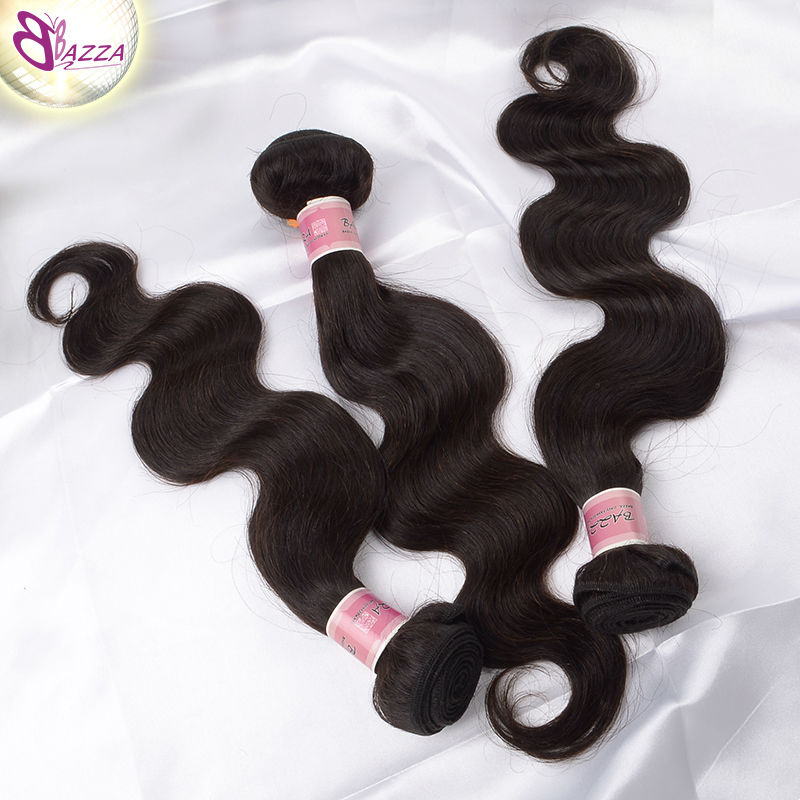 bazza for black women malaysian virgin hair body wave hair weave bundles 100% unprocessed body wave water wave virgin hair(China (Mainland))