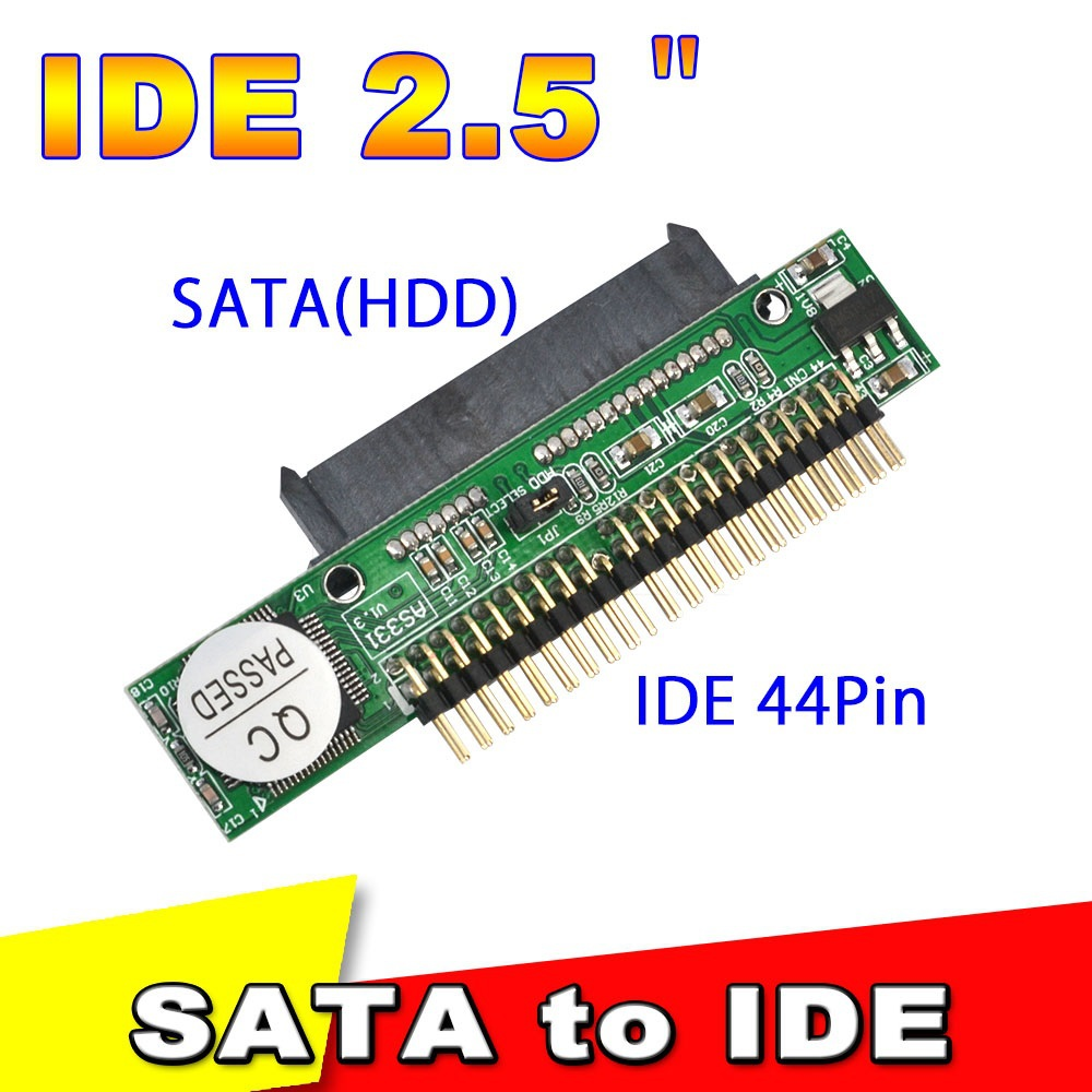 Sata to IDE 2.5 Sata Female to 2.5 inch IDE Male 40 pin port 1.5Gbs Support ATA 133 100 HDD CD DVD Adapter Converter(China (Mainland))