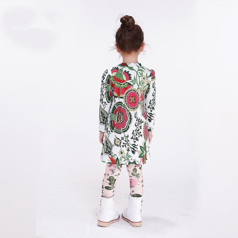 2016 autumn winter baby Girls flora Print T-Shirt Toddler Long Sleeve tops Blouse cotton kids t shirt girls clothing