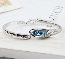 Austria crystal bracelet Korean fashion jewelry ANGEL BRACELET sent girlfriend gift glass shoes, free shipping(China (Mainland))