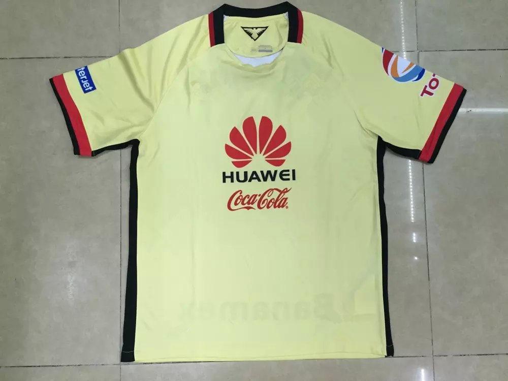 15/16 America home jersey soccer 2015 Mexico club home yellow away Football Shirts M LAYUN RAUL SAMBU L G REAR JIMENEZ O.PERALTA(China (Mainland))