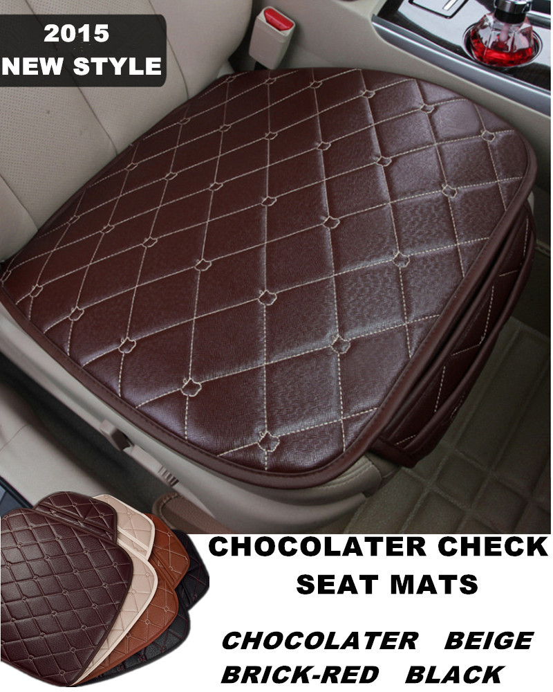buy high quality chocolate check microfiber leather car seat mat auto seat. Black Bedroom Furniture Sets. Home Design Ideas