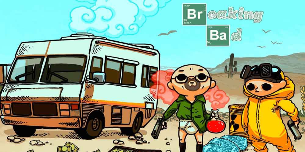 2015 New breaking bad funny cartoon bus Sport Beach Towel for Adults Student 137cmx69cm Cotton Washcloth Bath Towel(China (Mainland))