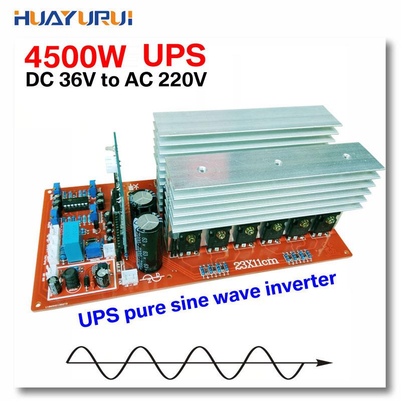 Free shipping 4500W DC36V to AC220V UPS phase synchronous solar power uninterruptible power supply pure sine wave inverter(China (Mainland))
