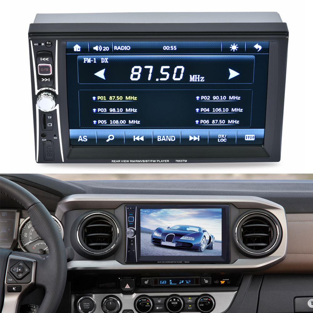 """6.6"""" HD In Dash Car TouchScreen Bluetooth Stereo MP3 MP5 Gps E-LINK with Europe North America Map Audio USB Auto Electronics(China (Mainland))"""