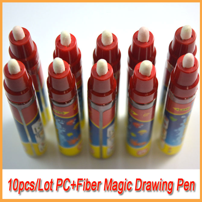 10PCS/Lot Drawing Water Drawing Magic Pen/Aquadoodle Pen Just Add Water(China (Mainland))