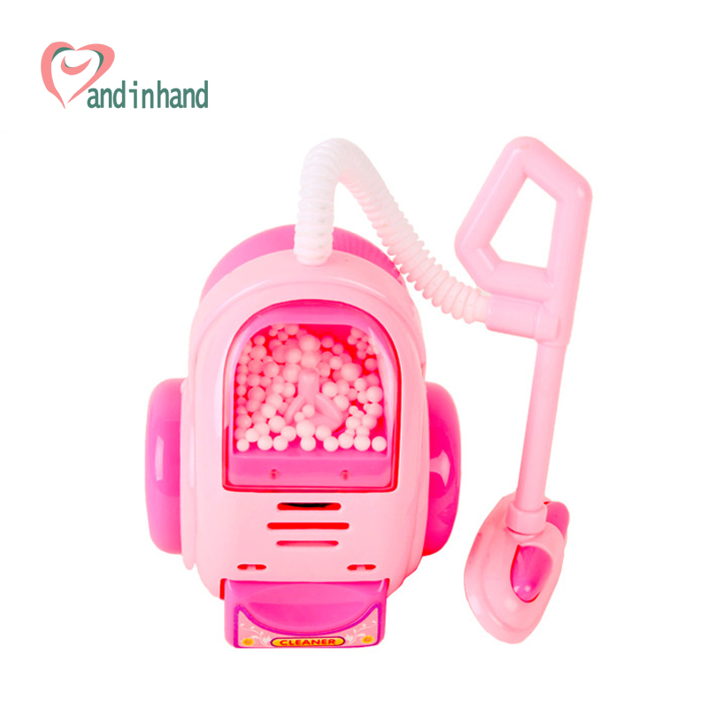 Miniature House Toy Vacuum Cleaner Pretend Play Games Brinquedos For Girl Kids Plastic Classic Toys Electronic Light Machine(China (Mainland))