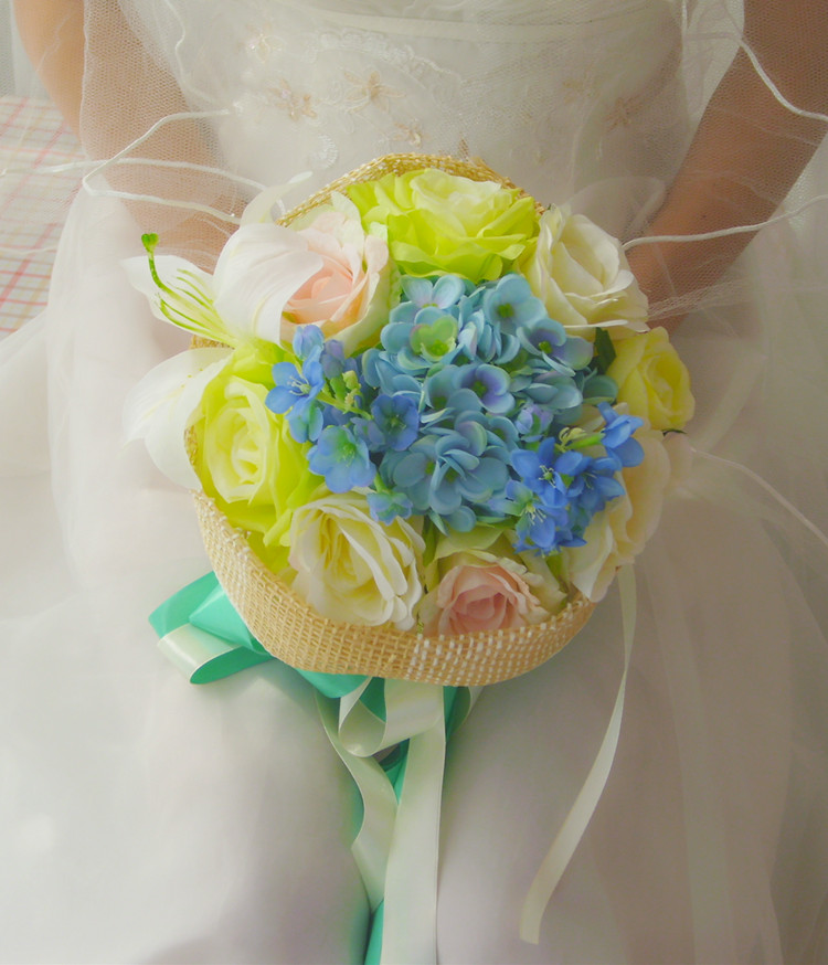 2016 bridesmaid wedding bouquet new cheap colorful wedding for Bouquet de fleurs 974