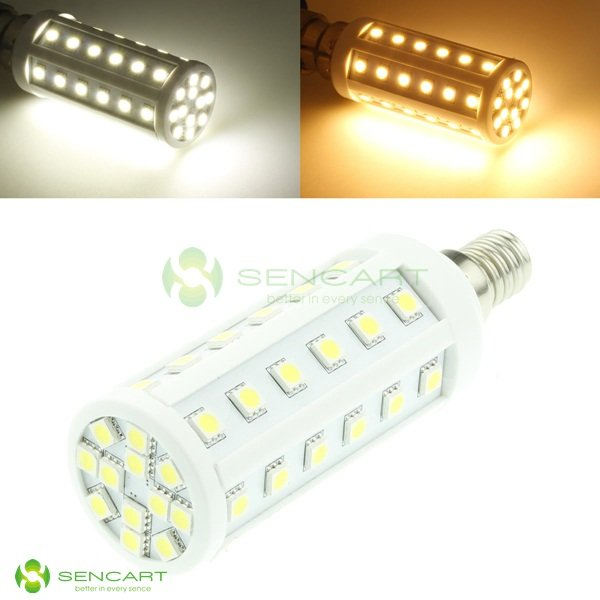 E14 48-SMD 5050 LED 9W 624LM Warm White lights floor lamp/grille lamp/ night lights /pendant light/ spotlight (3pcs/Lot)(China (Mainland))