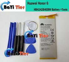 Nuovo 100% originale huawei honor 6 batteria HB4242B4EBW 3000/3100 mah li-polymer batteria per huawei 6 smartphone in magazzino + strumento(China (Mainland))