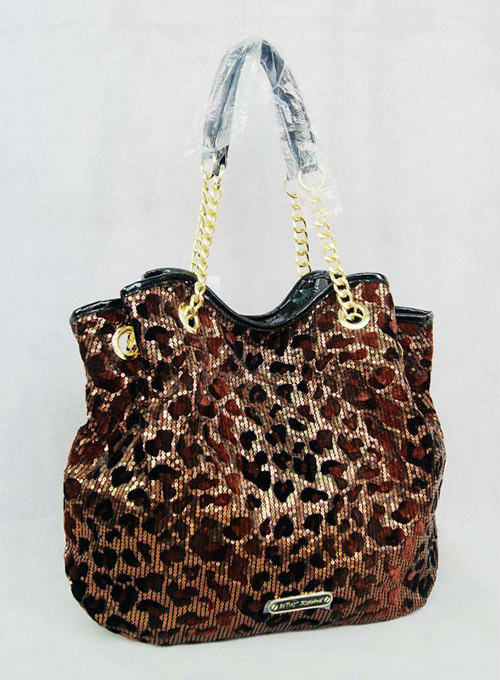 Free Shipping cheetah bag Fashionbag all in Sequin Red leopard Gold chain shoulder bag Love pendant women bag(China (Mainland))