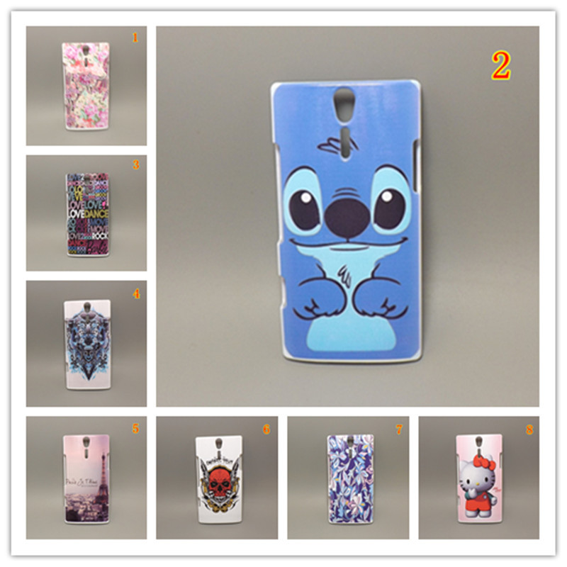Fashion design Rubber Flower Painting Hard Plastic cell phonecase for Sony Xperia S lt26i xperia SL lt26ii lt26 free shipping(China (Mainland))