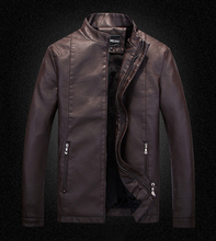 Buy Leather Jacket Men Winter Fur Mens Motorcycle Jackets 2016 New China Man Stand Collar Zipper Fishion Coats Size M-XXXL NSWT210 for $35.38 in AliExpress store